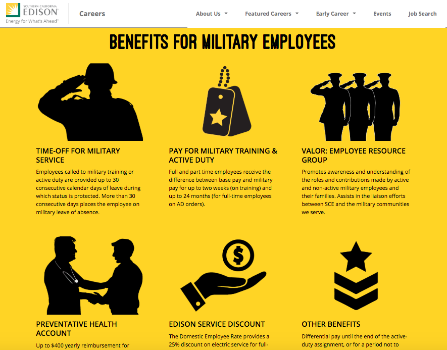 Edison Careers Military Friendly Employer Veteran Recruiting
