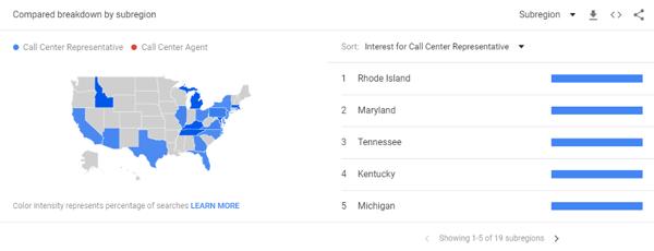 Google Trends for Job Titles geo