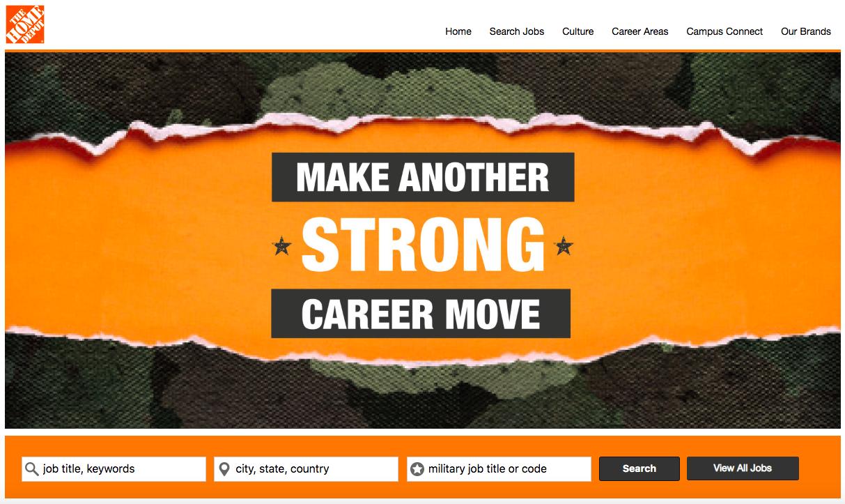 Home Depot Careers Miitary Friendly Employer Veteran Recruiting