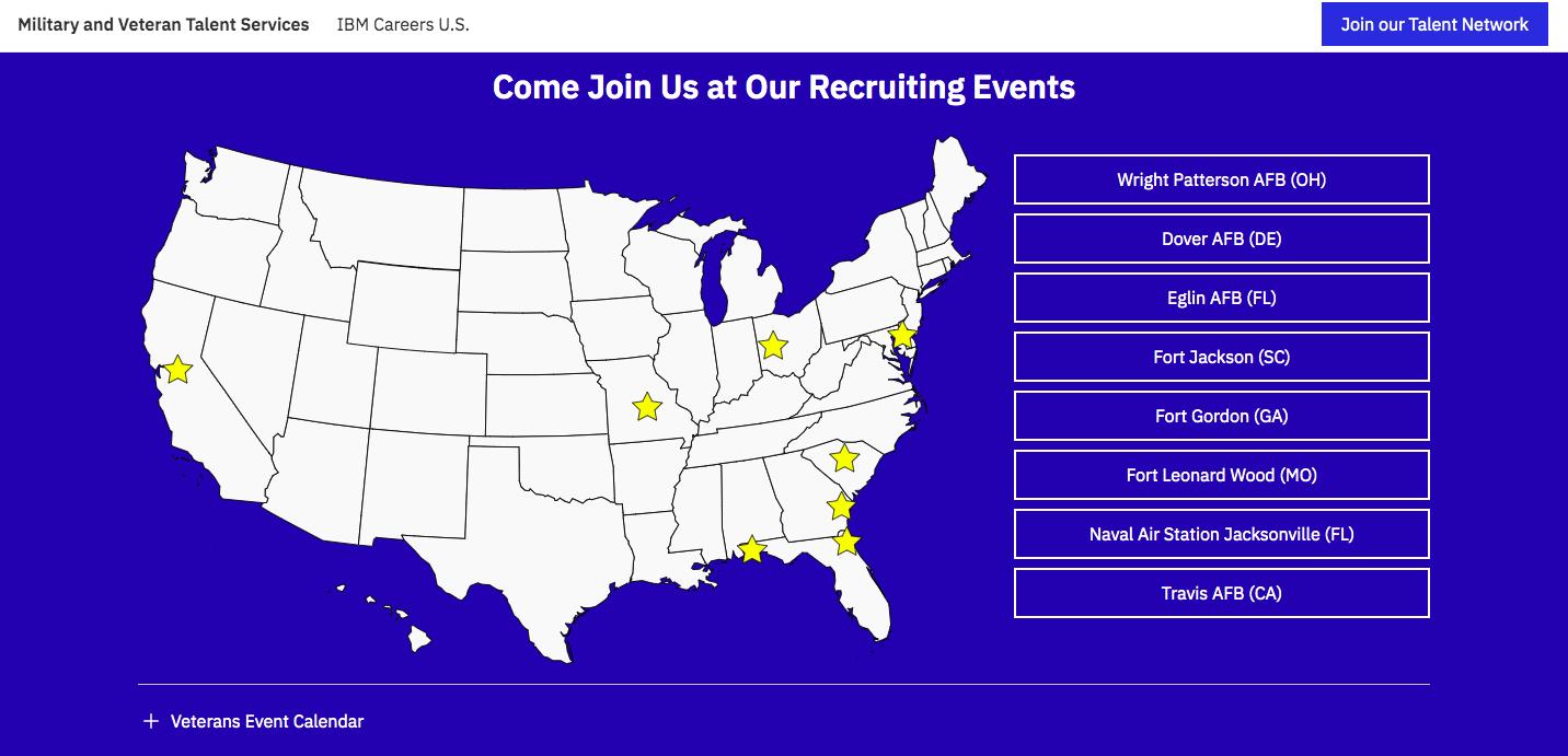 IBM Careers Miitary Friendly Employer Veteran Recruiting