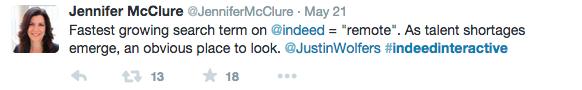 jennifer mcclure #IndeedInteractive tweet
