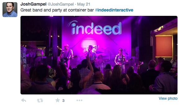 #IndeedInteractive tweet @joshgampel