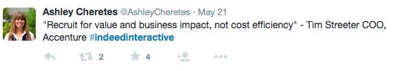 @ashleycheretes #IndeedInteractive tweet