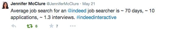 @jennifermcclure #IndeedInteractive tweet