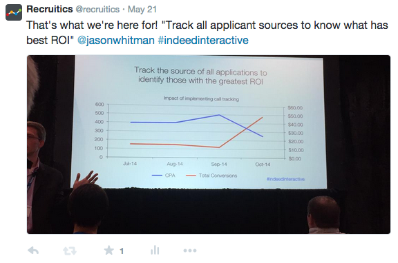 @recruitics #IndeedInteractive tweet