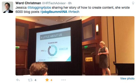 JobG8 Tweet via @HRTechAdvisor - content strategy