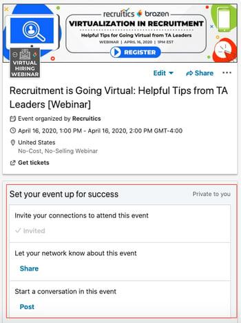 LinkedIn Events Example