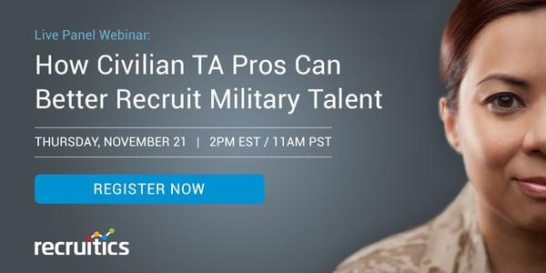 Recruitics Veteran Recruiting Webinar Register