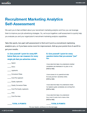 Recruitment Marketing Analytics Self-Assessment Image