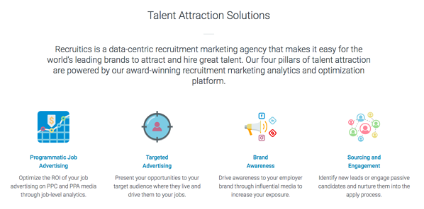 Recruitics Four Pillars of Talent Attraction