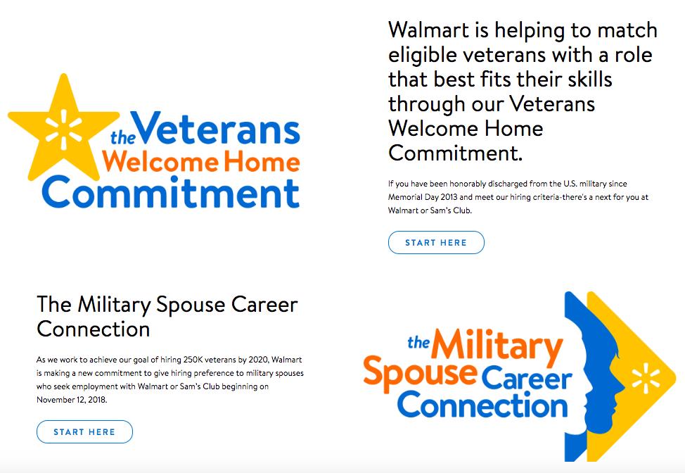 Walmart Careers Military Friendly Employer Veteran Recruiting
