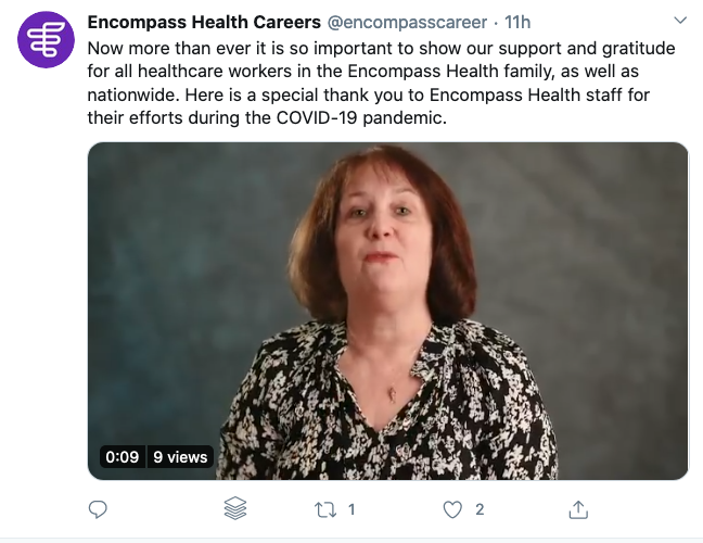 encompass health coronavirus social media recruitment example