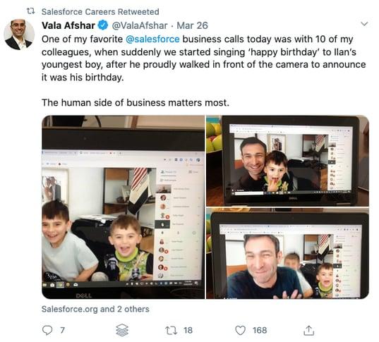 salesforce coronavirus social media recruitment example 2