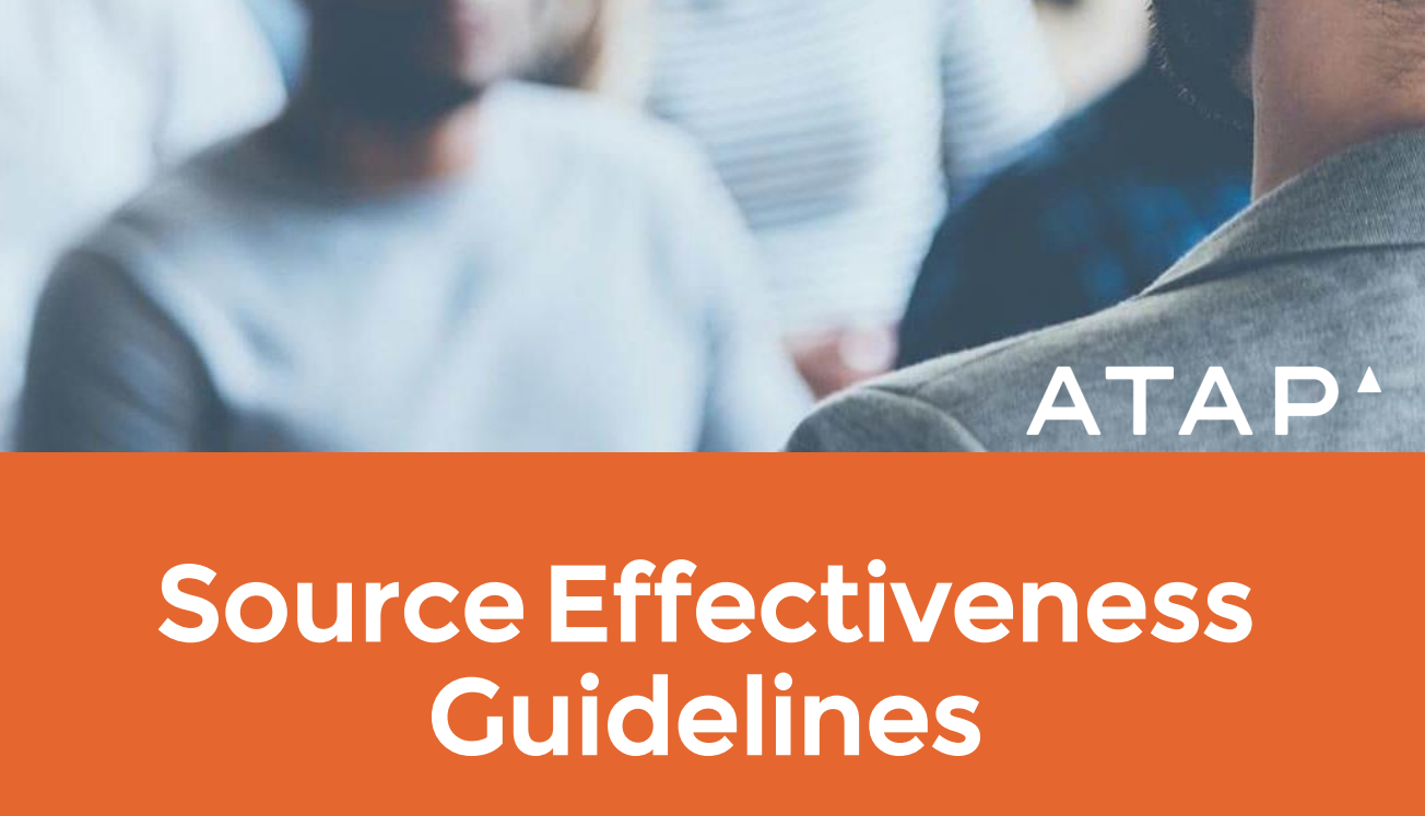 source effectiveness guidelines atap white paper recruitics