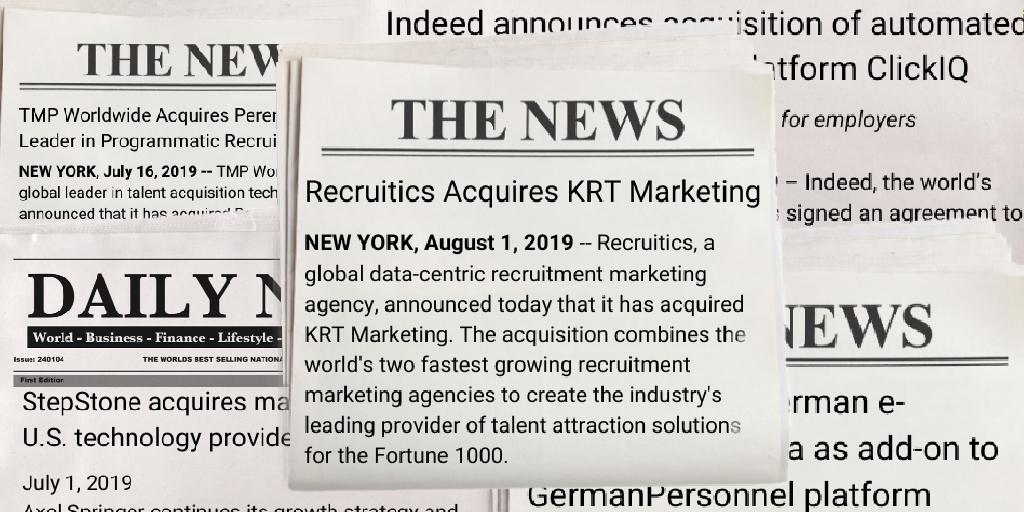 Programmatic Job Advertising Acquisitions 2019
